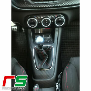 Alfa Romeo Giulietta adesivi  tunnel centrale sticker decal carbon look