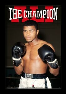 MUHAMMAD ALI THE CHAMPION 13x19 FRAMED GELCOAT POSTER BOXING WORLD ICONIC GREAT!