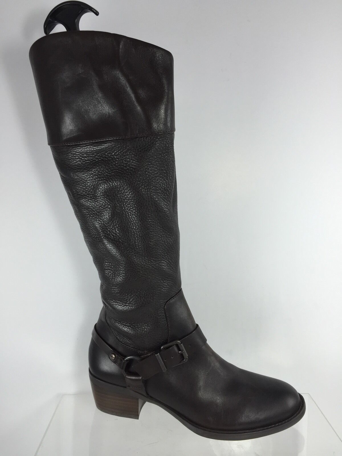 Vince Camuto Brunah Womens Dark Brown Leather Knee Boots 7.5 M