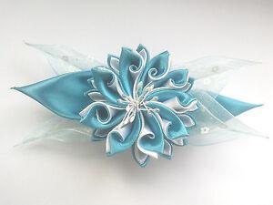 Kanzashi Blumen Haarklammer Haarspange Satin Haarschmuck Kopfschmuck Kanzashi*