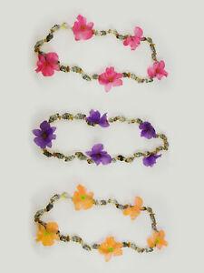 Hawaiikette Blüten mit Lamettafäden und Blinkeffekt