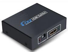 SDOPPIATORE SPLITTER HDMI 1 IN 2 OUT ATTIVO 1 SORGENTE 2 TV FULL HD 1080P 3D 4 K