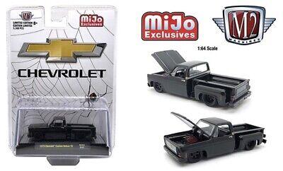 M2 Machines Chevy custom deluxe 10 BLACK WIDOW Mijo Exclusive **PRE ORDER**