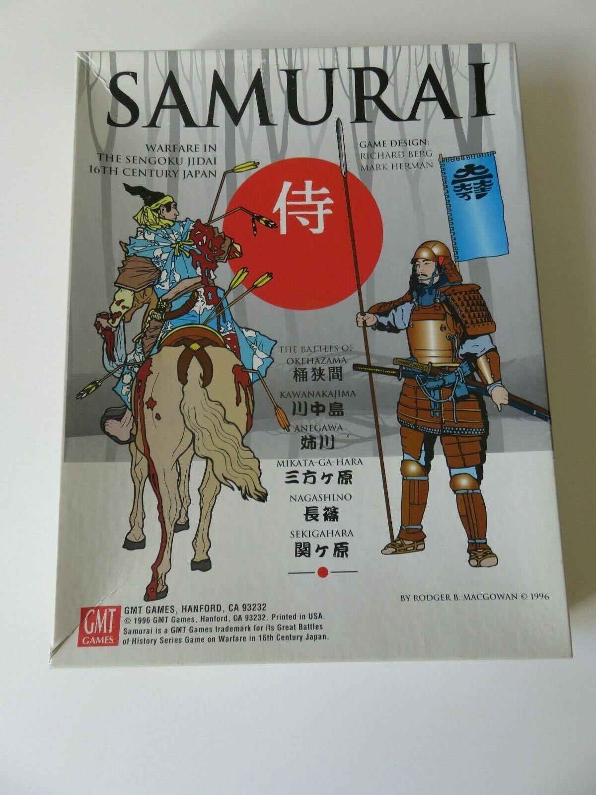 JEU SAMURAI WARFARE IN 16TH CENTURY JAPAN GMT GAMES WAREGAME  JEU STRATEGIE 1996  meilleure qualité meilleur prix