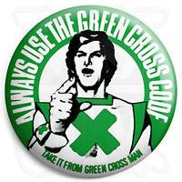 The Green Cross Code Man - 25mm Retro Kids TV Button Badge, Fridge Magnet Option