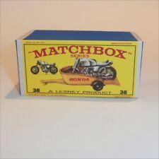 Matchbox Lesney 23 c Bluebird Caravan Trailer empty Repro Pink D style Box