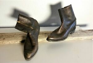 Vintage-BUILTRITE-Men-039-s-Brown-Ankle-Boots-Sz-13-305