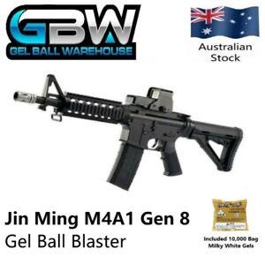 Details about Jin Ming JM Jinming M4A1 Gen 8 Black Gel Ball Blaster  Magazine Fed Rifle Toy Gun