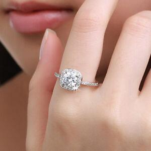 Elegant-Jewelry-18K-White-Gold-Crystal-Engagement-Wedding-Ring-Gift