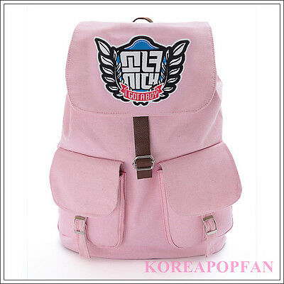Girls' Generation kpop SNSD SONE PINK CANVAS SCHOOL BAG BACKPACK NEW