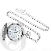 Charles Hubert Paris Classic Collection Hunter Case Chrome Pocket Watch 3559