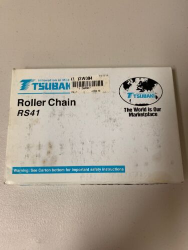 TSUBAKI RS41 240 LINKS 10 FT RIVETED ROLLER CHAIN BRAND NEW FREE SHIPPING