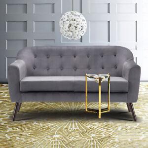 Skandinavisch Samt Kleiner Raum Sofa Sessel Wohnzimmer Couch