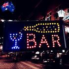 Flashing LED Sign BAR 48x24cm Shop Signboard Logo Light ESIGN4804