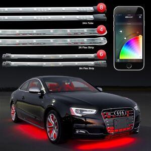 XKGlow LED Accent Light Kit App Control Car Interior Exterior 18 Pc KS-CAR-PRO