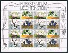 Liechtenstein 1029-1032a sheet,MNH.Michel 1089-92. Life cycle of Grape Vine,1994