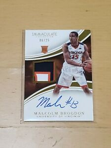 2016-Panini-Immaculate-Malcolm-Brogdon-RPA-RC-25-Auto-Rookie-3-Color-Patch