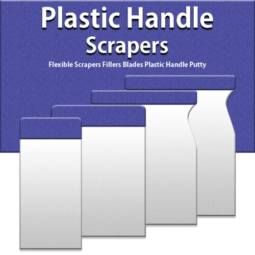 New Flexible Wall Paint or Putty Scrapers Set Putty Fillers Scrapers with Grip