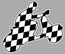 SCOOTER VESPA LAMBRETTA DAMIERS MODS 10cmX7cm AUTOCOLLANT STICKER MOTO SA154