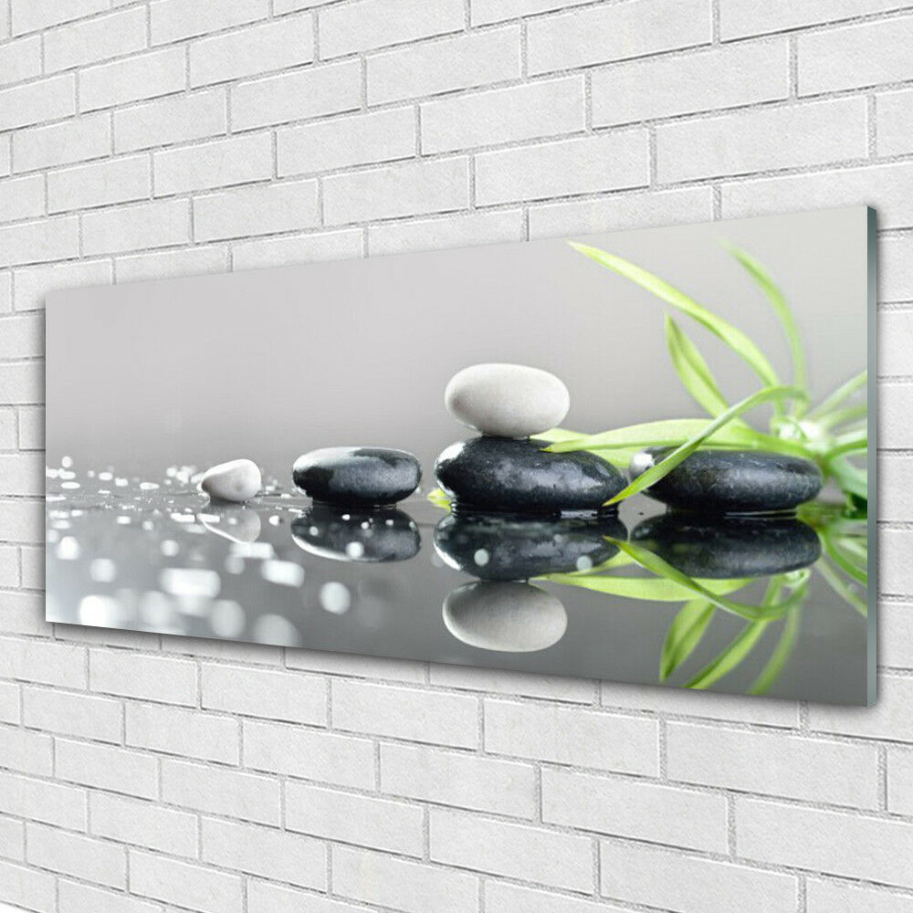 Impression sur verre Wall Art 125x50 Photo Image Pierres Grass Art