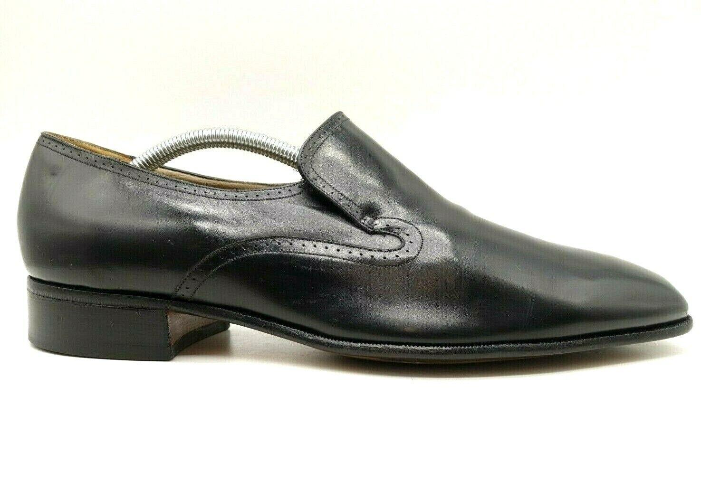 Johnston Murphy USA Aristocraft Black Leather Slip On Loafers Shoes Men's 10.5 C