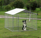 "PawHut Outdoor Dog Enclosurs 10 x 10 x 6"" with Cover - Silver"
