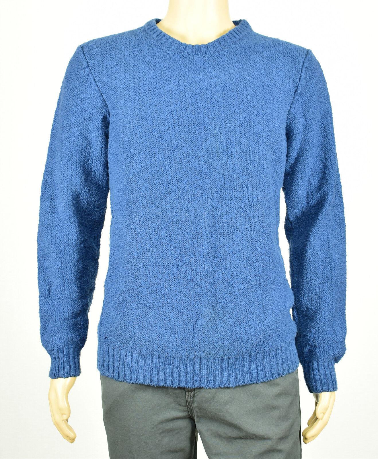 Die Herren Laden Blomingdales Blau Nubby Rundhalsausschnitt Pullover L