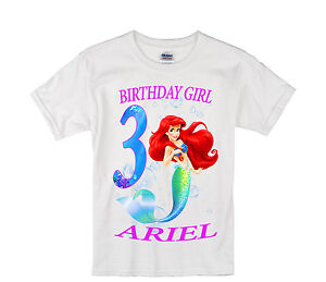 Image Is Loading The Little Mermaid Birthday Shirt Personalized Custom Name