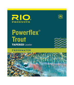 RIO-Powerflex-Trout-Leader-7-5ft-9ft-amp-12-foot-in-single-or-3-packs-All-Weights