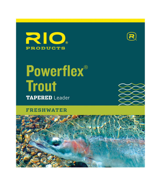 9ft /&12 foot in single or 3 packs All Weights RIO Powerflex Trout Leader 7.5ft
