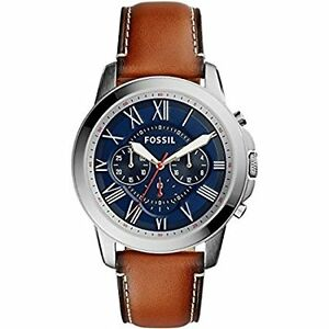 Fossil FS5210 Mens Grant Brown Chronograph Watch
