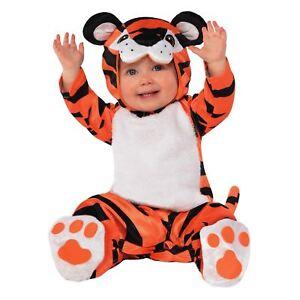 BAMBINI-RAGAZZI-BAMBINI-BAMBINE-Piccolo-Tigre-Animale-Selvatico-ZOO-Tuta-Vestito