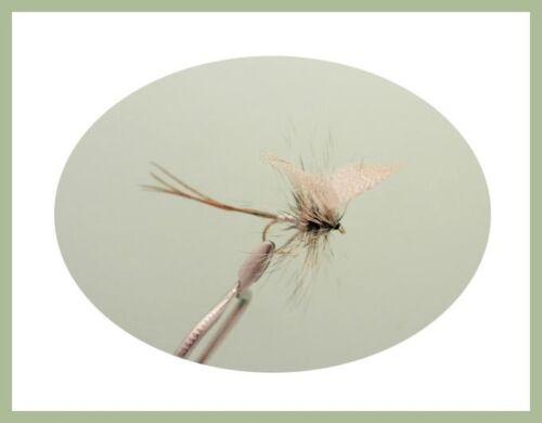 Mayflies Verde Drake /& speso effimera Taglia 10 Trote Mosche 18 Grigio Drake