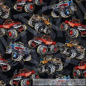 BonEful Fabric FQ Cotton Quilt Yellow B/&W Red Sport Car Tire Small Wheel Boy Dot
