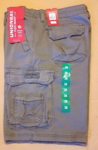 NUOVO UnionBay FLEX Girovita Pantaloni corti con tasconi da uomo-assortiti Colori e Taglie