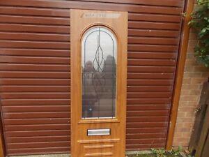 UPVC Front Door Panel Light Oak /White inside Reinforced 28mm   eBay
