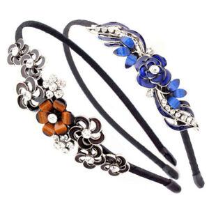 Flower-Metal-Rhinestone-Crystal-Head-Piece-Chain-Jewelry-Headband-Hair-Band-P-LA