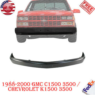 Front Bumper Steel Painted Black Face Bar For 1988 2000 Chevy Gmc C K Series Ebay