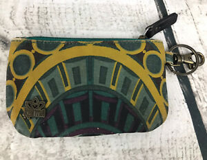 """Karma Women's Id Wallet. With Key Chain Ring Blue Green Yellow 5x3"""""""