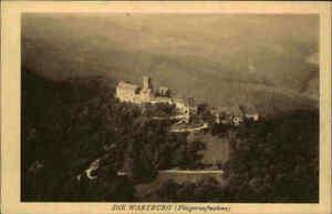 EISENACH-Thueringen-Wartburg-1930-alte-Fliegeraufnahme-Fliegerbild-No-61-AK