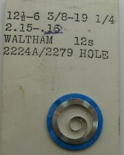 New old Waltham 12s  1894 model 2224 Mainspring 1 piece US made