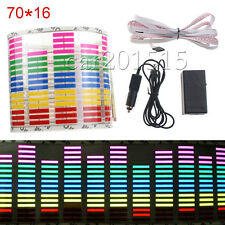 70*16cm Auto Car Sticker Music Rhythm LED Flash Light Sound Activated Equalizer