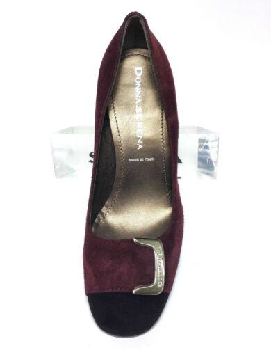 Scarpe Nero Decolte' Tacco Shoes Donna 7 Cm Italian E Serena Camoscio Bordeaux rrBng