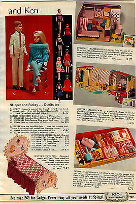 1965 AD Dolls Skipper Rickey Barbie Color'N Curl Tressy Cricket Cosmetic Hair