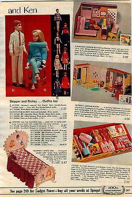 1965 AD Dolls Skipper Rickey Barbie Color'N Curl Tressy Cricket Cosmetic Hair