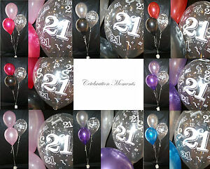 Happy-21st-Birthday-Party-Helium-Balloon-Decoration-DIY-Clusters-Kit-10-tables