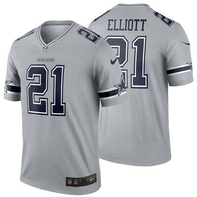 on sale eaaa4 9c7aa NEW Nike 2019 Ezekiel Elliott 21 Dallas Cowboys Inverted Jersey Legend  Edition | eBay