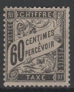 FRANCE-STAMP-TIMBRE-TAXE-N-21-034-TYPE-DUVAL-60c-NOIR-034-NEUF-x-A-VOIR-N467