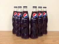 Pepsi Sixpack Old Fashioned Glass Bottle Soda