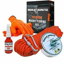 925lb Fishing Magnet Bundle Pack Includes 6mm 100ft High Strength Nylon Rop